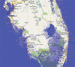 7 meter sea rise map, Florida