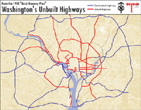 Map of unbuilt D.C. highways. Click to enlarge.