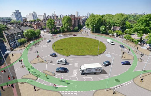 Protected bike lanes could fit in DC's traffic circles; here's how