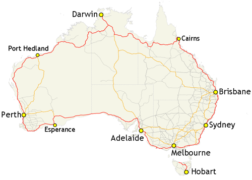 Australia has an enormous nationwide beltway