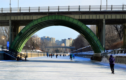 Ottawa has a four mile ice skating highway